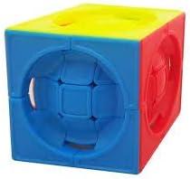 Jiehui Striker-less Centrosphere Rubiks Cube (Multicolour)