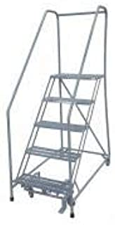 product image for Cotterman 1204R3232A3E24B4C1P6 - Rolling Ladder Steel 70In. H. Gray