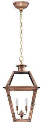 "Savanah Electric Antique Copper Hanging Lantern (Large 26.5"" X 14"")"