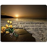Christian Bible verses Isaiah Mouse pads-Non-Slip Rubber Gaming Mouse Pad 25*20