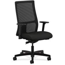 HON Ignition Series Mid-Back Work Chair - Mesh Computer Chair for Office Desk, Black (HIWM2) - Mid Mesh Back