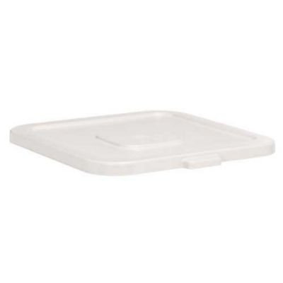 """Continental 2801 WH White Huskee 22"""" X 22"""" Square Receptacle Lid Only-2801 WH"""