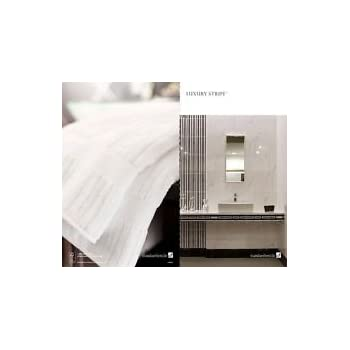 Luxury Stripe by Standard Textile = 6 Hand Towel Set (16x30) Usually ships within 1-3 business days unless there is a problem.