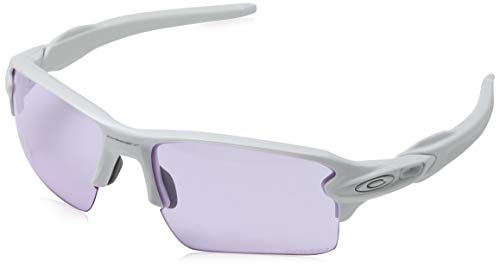 Oakley Men's Flak 2.0 XL Rectangular Sunglasses, Polished White, 59.0 ()