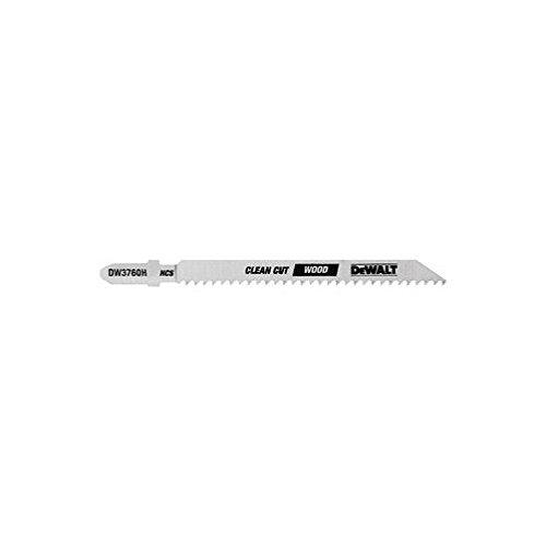 DeWalt DW3760H 4'' 10 TPI T-Shank Wood Cutting Jig Saw Blades 5 Count by DEWALT