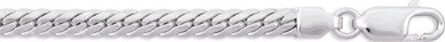Robbez masson - Femme - Bracelet Or Blanc 9 Carats Maille Anglaise - Référence : 611022.2 - Longueur : 18 cm