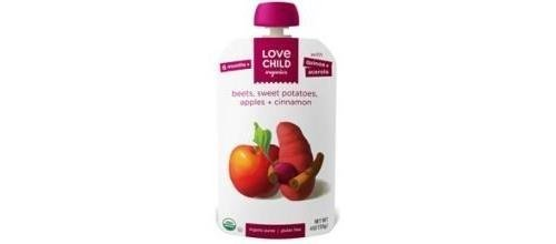 Sweet Potatoes Apples Beets Plus Cinnamon 4 Ounces (Case of 6) by Love Child Organics (Love Child Organics)