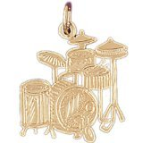 CleverEve 14K Gold Charm Musical Instruments 1.4 Grams