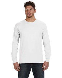 Anvil Ringspun Heavyweight Long-Sleeve T-Shirt>S WHITE 784AN