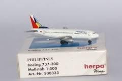 Herpa 500333 Philippine Airlines Boeing 737 300 1 500 Scale Diecast Display Model