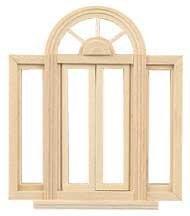 "Houseworks, Ltd. Dollhouse Miniature 1/2"" Scale Circlehead Double Casement Window"