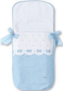 Bimbi Class Schlafsack–Tasche, 35x 77cm, weiß und blau