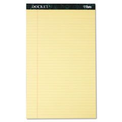 - TOPS Docket Ruled Perforated Pads - Docket Ruled Perforated Pads, Legal Rule/Size, Canary, 12 50-Sheet Pads/Pack