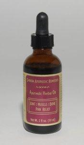 Ayurvedic Herbal Remedies - 2 oz Joint/Muscle/Bone Herbal Oil