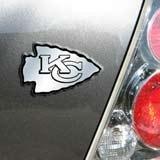 Kansas City Chiefs Chrome Car/Auto Team Logo Emblem