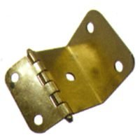 Wrap Around Hinge - MINTCRAFT CH-080 Wraparound Hinge, Bright Brass