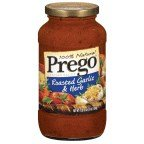 Prego 100% Natural Roasted Garlic & Herb Italian Sauce 24 oz (Pack of 12)