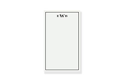 Monogram Notepad, Monogrammed Notepad, Color Choices Available -