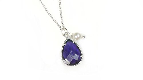 Crystal Necklace Elegant Pendant Teardrop