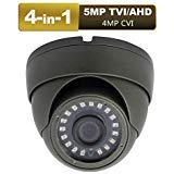 Anpviz CCTV Dome Camera 4-in-1 (5mp TVI, 5mp AHD, 4mp CVI, CVBS) Security Dome Camera, 65ft IR Day/Night, Weatherproof IP66 Surveillance Camera 3.6mm Lens (5mp Black)