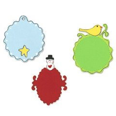 Sizzix Sizzilts 3 Die Sets/Pkg-Small Christmas Tags