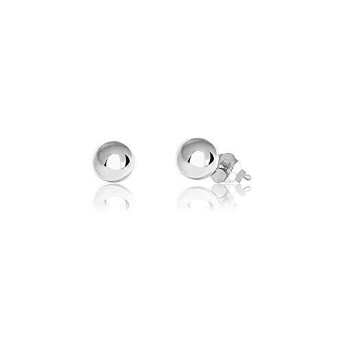 Verona Jewelers Womens Sterling Silver Post Ball Stud Earrings- Bead Ball Stud Earrings for Women 2-12MM (9) (Silver, - Sterling Post Earrings Silver Italian