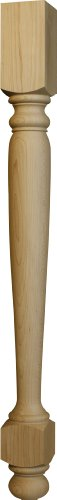 Dining Table Leg in Knotty Pine - Dimensions: 29 x 2 1/2 inches (Turned Table Leg)
