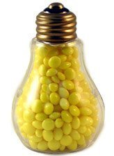 Clear Plastic Fillable Light Bulbs - Set of