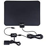 DuaFire 50 Miles Range Digital Indoor HDTV Antenna with 13 Feet Coax Cable, Black