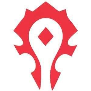 PP 8930, Vinyl Decal Sticker, World of Warcraft Horde |RED| 6.5 X 3.70 inches, Apply on Cars, Trucks, Vans & LAPTOPS ()