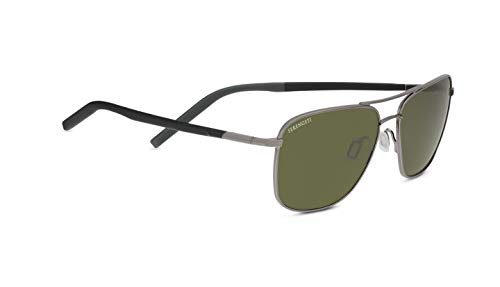 (Serengeti Spello Shiny Gun Metal/Black/Grey Mineral Polarized 555Nm Spello Shiny Gun Metal/Black/Grey Mineral Polarized 555Nm, Gunmetal, Mineral Polarized 555nm)