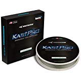 KastKing KastPro Braided Fishing Line - Spectra Super Line - Made in The USA - Zero Stretch Braid - Thin Diameter - On Biodegradable BioSpool! - Aggressive Weave - Incredible Abrasion Resistance! ()