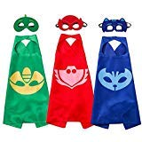 Cartoon Hero Mask Costumes and Dress Up for Kids - Cartoon Hero Birthday Party Halloween Gift Mask and Cloak 3PCS