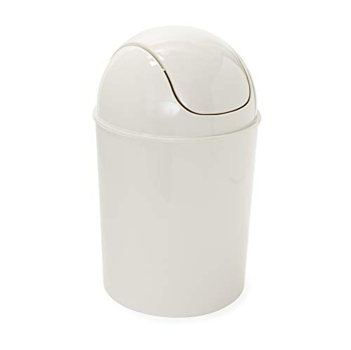 Umbra Mini Waste Can, 1.25 Gallon with Swing Lid (Linen)