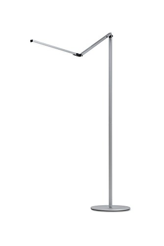 Koncept AR5000-W-SIL-FLR Z-Bar LED Floor Lamp , Warm Light, Silver by Koncept