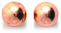 Shipwreck Beads Metal Copper Smooth Round Bead, 8mm 8-mm
