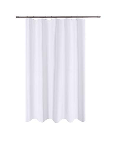 N&Y HOME Fabric Shower Curtain Liner 54 x 78 inches Bath Stall Size, Hotel Quality, Washable, Water Repellent, White Spa Bathroom Curtains with Grommets, 54x78 (Liner Fabric Shower Stall Curtain)