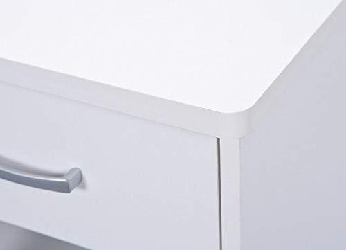 Links 13300220 Grossi Bureau dangle avec 1 Tiroir Bois Blanc 118 x 79 x 75 cm