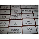 102 Spanish laminated high frequency sight word flash cards. Learn Spanish Best SelleR!