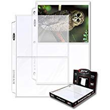 BCW 2-Pocket Clear Protective Pages | Archival Safe Binder Pages 7-1/8'' x 5-1/2'' | 100-Count per Pack (1-Pack) by BCW
