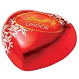 Lindt LINDOR Valentine Heart Milk Truffles 100 Count In a Beautiful Gift Box (Milk)