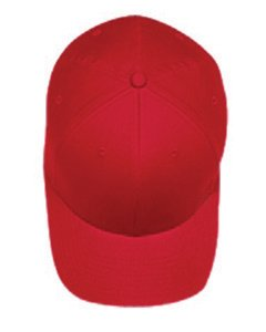 Flexfit 6-Panel Structured Mid-Profile Cap S/M Red
