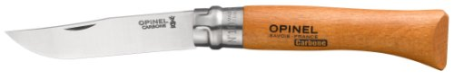 Opinel No 10 Carbon Steel Folding Knife, Outdoor Stuffs