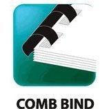 1/2'' Black Plastic Comb Binding - Box of 100 (Comb Punched Paper Case)