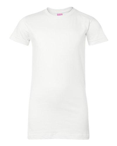Sleeve Longer Length T-shirt (Juniors' Fine Jersey Longer Length T-Shirt (Medium))