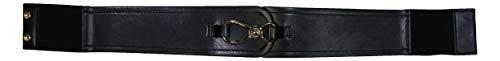 Ralph Lauren Dawson Signature Lock Front Stretch Belt (Black, X-Small) (Dawson Accent)