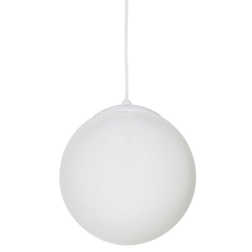 Sunset Lighting F3403-30 Pendant with Opal Globe Glass, White Finish