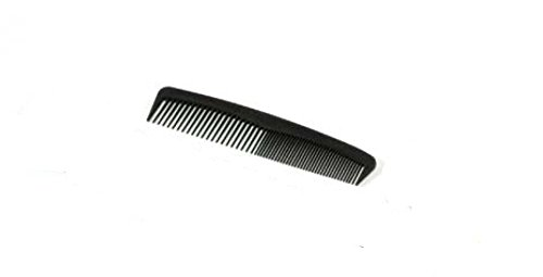Club Classic Disposable 5'' Black Comb (144 per unit) (Individually Wrapped)