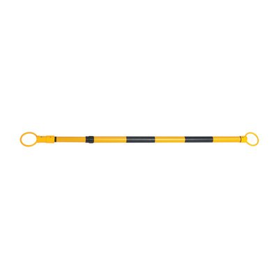 JBC Retractable 6ft. Cone Bar – Orange/White, Extends 3.8ft. to 6ft.