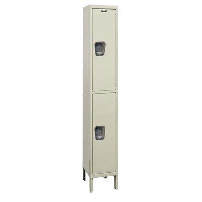 Hallowell UY1888-2A-PT Maintenance Free Quiet KD Metal Locker, Assembled, 1-Wide Grouping, 2 Tier, 36